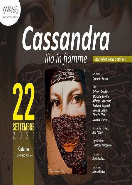 "Cassandra ""Ilio in fiamme "" da Trioiane di Euripide"