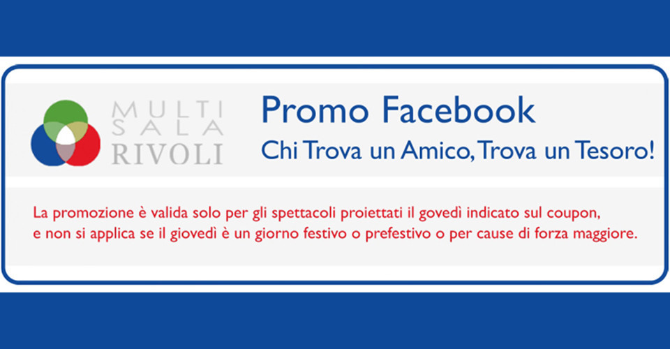 Promo fb rivoli new