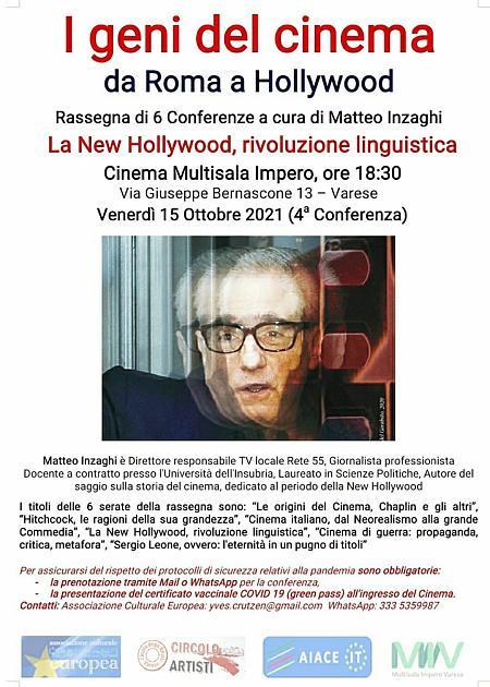 Matteo Inzaghi: La New Hollywood, rivoluzione Linguistica